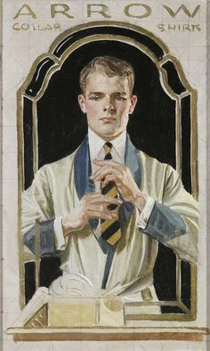 View Untitled Advertising preliminary by Joseph Christian Leyendecker on artnet. Browse upcoming and past auction lots by Joseph Christian Leyendecker. Art And Illustration, Illustrations And Posters, Vintage Posters, Vintage Art, The Arrow, Jc Leyendecker, Norman Rockwell, Gay Art, Drawing