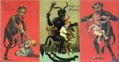 Babbo Natale ha come aiutanti i Krampus, dei demoni con l'aspetto di caproni, armati di frusta per flagellare chi non si è comportato bene.