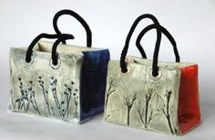 "Slabs of clay, this art teacher created ""elegant handbags"" by using textures inspired by nature."