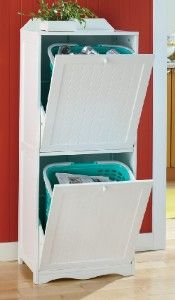 This would be perfect for collecting recycle...or storing pet food. bathroom laundy hamper idea, Ana White has some plans for tilt outs.