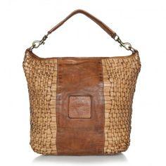 Campomaggi Tasche – Leather Hobo Bag Beige – in braun aus Glattleder – Umhängetasche für Damen