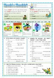 English worksheet: should or shouldn´t | Esl | Teaching ...