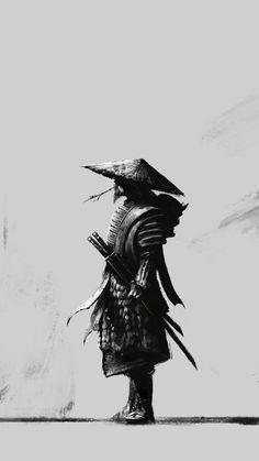 It is better to be Warrior sitting in the garden; then a gardener at war. black and white sketch samurai ninja Ninja Kunst, Arte Ninja, Ninja Art, Samurai Tattoo, Ronin Tattoo, Demon Tattoo, Warrior Tattoos, Fantasy Samurai, Ronin Samurai