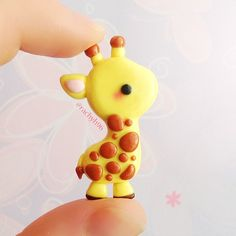 Hey guys!!  I made this cute little giraffe inspired by @maxxenestacey! ✨ I've literally have her photo saved on my iPad for probably over a year and a half and only now have I decided I should actually try and make it  Also I don't make tutorials when the charm is inspired by another persons work, so please don't ask! It's also not for sale, just my personal collection!  Hope you like it! ✌ #polymerclay #cute #kawaii #giraffe