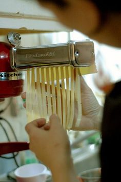 Pictures and tips for making homemade pasta using the kitchen aid attachments