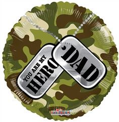 18 inch Fathers Day My Hero Dad Foil Balloon