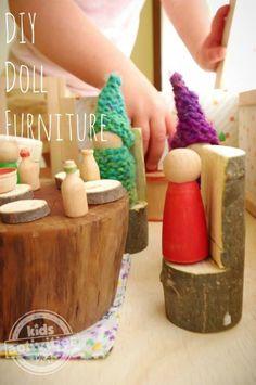 Easy DIY wooden dolls furniture.