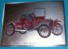 1909 Vauxhall Antique Car from yesteryear classic car buffs gift foil art print