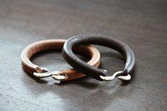Self Edge Leather & Silver Bracelets