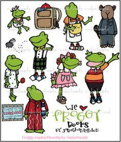 Froggy inspired digis from melonheadz Family Home Evening, School Days, Book Activities, Frogs, Teacher Stuff, Pond, Books To Read, Preschool, Clip Art