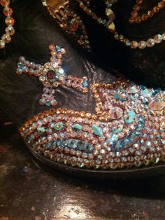 Paradise swarovski crystal bling cowgirl boots ... not really me ... but if I had an endless supply of money, these would be fun