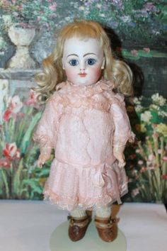 Rare and hard to find, 10 1/2 Block Letter FG, Francois Gaultier Doll. Eyes have been reset at some time in the past, as the plaster is clean and