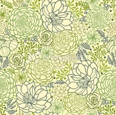 Stock Illustration Succulent Plants Seamless Pattern Background Image-----now THIS is a perfect idea of what the tattoo could look like!