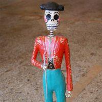 Mexican folk art, Tall Paper Mache Day of the Dead Matador