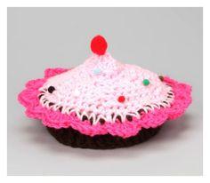 Cupcake Crochet Hat $14.00 #cupcakecrochet