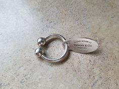 Tiffany & Co Sterling Silver Keyring and Return To Sterling Tag by…