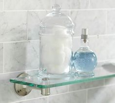 Glass shelves Ideas - Glass shelves Kitchen Floating - - Glass shelves For TV - Glass Shelves In Bathroom, Floating Glass Shelves, Spa Like Bathroom, Tempered Glass Shelves, Shower Shelves, Room Shelves, Glass Bathroom, Bathroom Fixtures, Amazing Bathrooms