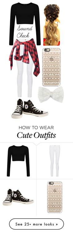 """""""Heidi's Sound Check Outfit"""" by summersunshinebliss on Polyvore featuring moda, Frame Denim, Converse, Casetify e Decree"""