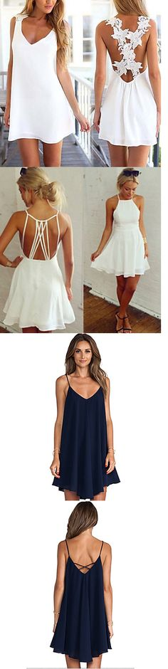 Adorable romantic short dresses by tamra Casual Dresses, Short Dresses, Summer Dresses, Summer Outfits, Look Fashion, Fashion Beauty, Fashion Spring, Dress Fashion, Fashion Clothes