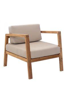 Zuo Modern 703570  Bilander Arm Chair Cushion Beige