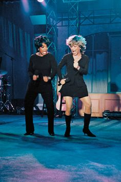 Oprah Winfrey and Tina Turner