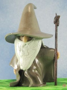 Old Wizard inspired by Gandalf for Fairy Garden OOAK on Etsy, $20.00