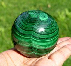 "52mm (2.0"") Natural Green MALACHITE CRYSTAL SPHERE GEM BALL Rare Africa Congo"
