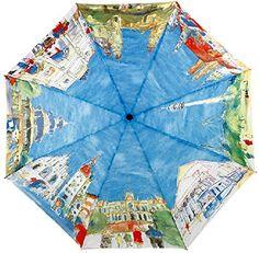 Art Painting Automatic Folding Umbrella - Home & Office - FeelGift Fancy Umbrella, Umbrella Art, Folding Umbrella, Under My Umbrella, Cool Umbrellas, Umbrellas Parasols, Automatic Umbrella, Anti Uv, Hayao Miyazaki