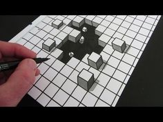 How to Draw a 3D Illusion using Circles - YouTube