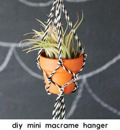 Clover and Dot: DIY Mini Macrame Plant Holder