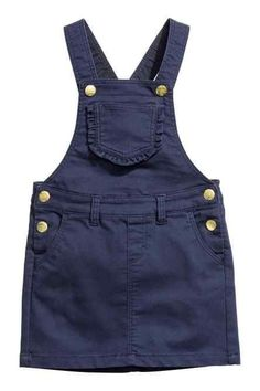 Pinafore dress in soft stretch twill with adjustable straps with press-studs, a chest pocket with a frilled edge, front and back pockets and Denim Pinafore, Pinafore Dress, Kids Dress Wear, Baby Dress, Cute Outfits For Kids, Toddler Girl Outfits, Baby Jeans, Kids Fashion, Fashion Outfits