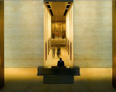 Mies van der Rohe Seagram building 1958- interior: the lobby. This must have astounded people when it was built.