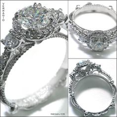 Wow wow wow! Parisian 122R Verragio, vintage inspired. I would prefer a square diamond, but I love that unique band!