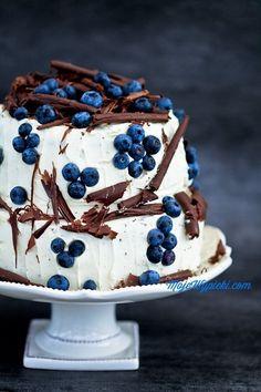 Blaubeeren-Schokolade Kuchen