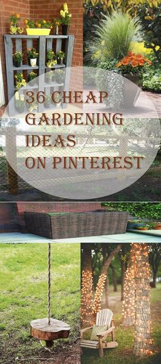 47 Cheap Landscaping Ideas For Front Yard - A Blog on Garden Cheap Landscaping Ideas For Front Yard, Home Landscaping, Backyard Ideas, Outdoor Ideas, Arizona Landscaping, Inexpensive Landscaping, Large Backyard, Very Small Garden Ideas, Garden Fence Art
