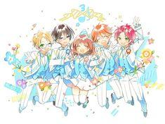 Trickstar, by Izmk A Star Images, Anime Japan, Ensemble Stars, Image Boards, Me Me Me Anime, Gallery, Cute, Fictional Characters, Random Stuff