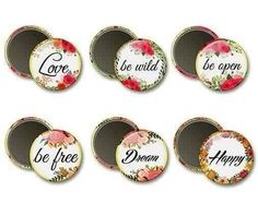 Inspirational Quote Magnets - Wedding Party Gifts - Bridal Shower Favors - Romantic Gifts - Valentines Day - Artistic Magnets - Gift for Her #gift #magnets