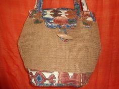 Vintage Shopper - Tasche*vintage*bast*beige*bunt*Strand*Hippie* - ein Designerstück von SweetSweetVintage bei DaWanda