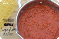 BEST EVER Homemade Italian Spaghetti Sauce Recipe - this was passed down from my Cicillian Grandma!