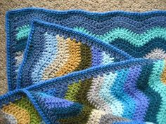 The Neat Ripple pattern is one of my absolute favourites for blanket making and over the years that I've been crocheting I've made several. Picture above from left to right :: Summer ripple :: Interlocking Colour ripple :: Coast Ripple...