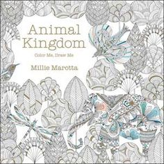 Animal Kingdom Adult Colouring Book