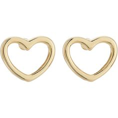 Marc by Marc Jacobs Love Heart Earrings ($29) ❤ liked on Polyvore featuring jewelry, earrings, gold, gold tone jewelry, heart earrings, gold tone earrings, studded jewelry and heart shaped stud earrings
