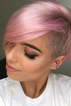 Pink Hairstyles Totally Adorable Pink Colored Short Hairstyles We Love  Pinterest