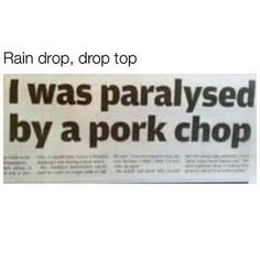 I love pork chops