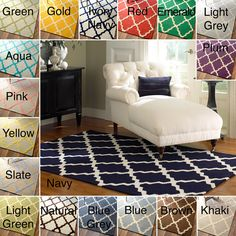 nuLOOM Hand-hooked Alexa Moroccan Trellis Wool Rug (5' x 8') - Overstock™ Shopping - Great Deals on Nuloom 5x8 - 6x9 Rugs
