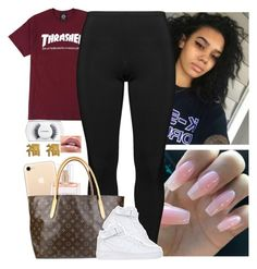 """"" by melaninmonroee ❤ liked on Polyvore featuring Boris, Victoria's Secret, Louis Vuitton, NIKE, MAC Cosmetics and yuki nagao"
