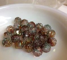 Czech Glass Bead Firepolished Rosebud Pink by gypsybeadpeddler