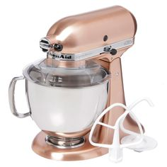 Would go oh so well with our pans.... KitchenAid Satin Copper 5-quart Custom Metallic Tilt-Head Stand Mixer