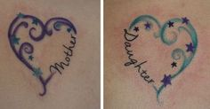 mother daughter tattoos I did | tattoos | Pinterest | Mothers, Granddaughters and Colors