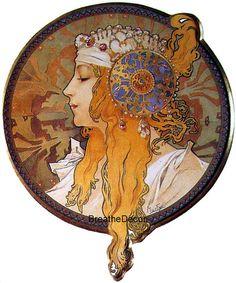 Mucha The Blonde Digital Art Illustration by BreatheDecor on Etsy, $1.99